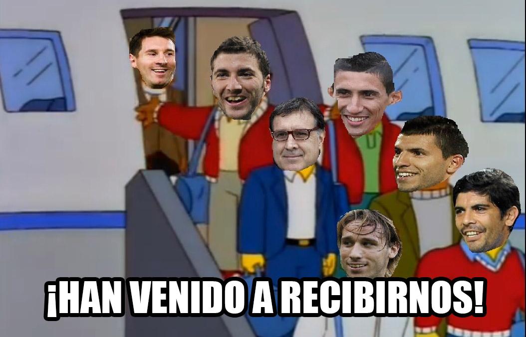 Los simpson van a recibir a la selecci n argentina el for Chimentos de hoy en argentina