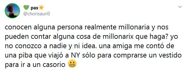 anecdotas de gente millonaria en twitter