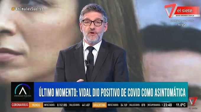 La ex gobernadora María Eugenia Vidal dio positivo de coronavirus