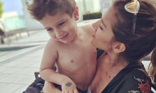 Por el tatuaje que le hizo a su hijo, acusaron a Jimena Barón de mala madre y discutió con una seguidora