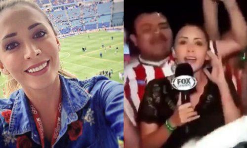 Una periodista se defendió a los golpes tras ser manoseada en un partido de fútbol