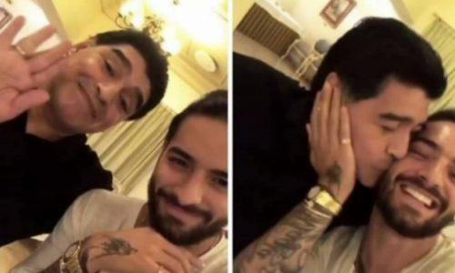 El divertido encuentro entre Diego Maradona y Maluma en Rusia