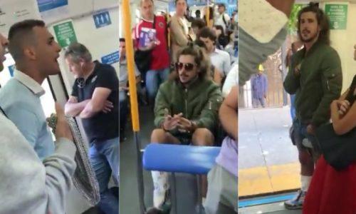 Rodrigo Eguillor fue atacado en el tren y los pasajeros lo obligaron a bajarse