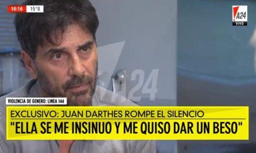 """Juan Darthés habló con los medios y contó su verdad: """"Ella se me insinuó, me quiso dar un beso"""""""