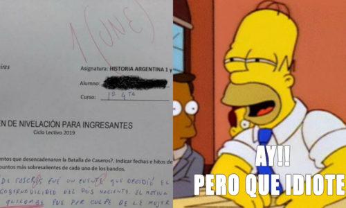 """Contestó el examen con idioma inclusivo y le pusieron un """"une"""""""