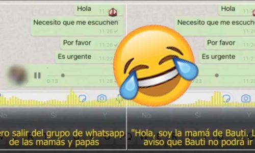 Se quejó del grupo de papás en Whatsapp y se volvió viral