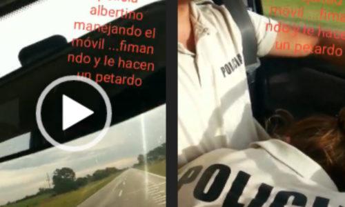 """Policía se grabó mientras le hacían un """"petardo"""" y acabó afuera de la fuerza"""
