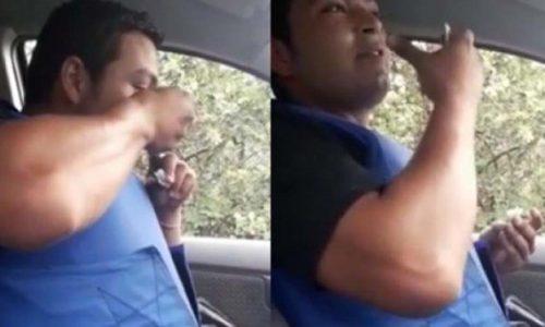 Un policía local fue filmado consumiendo drogas en un patrullero