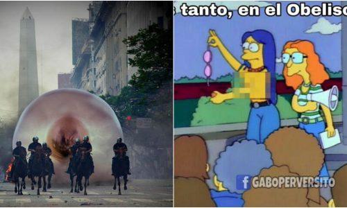 """¡Los mejores memes del """"tetazo"""" en el Obelisco!"""